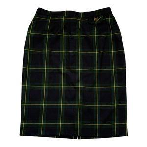 Nygard/Vintage   Plaid Midi Skirt